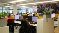 Working people in office in Moscow, Russia. Stock Footage