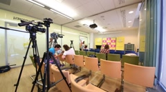 Conference hall in Tinkoff Bank office in Moscow, Russia. Stock Footage