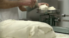 Bread dough making. Stock Footage