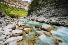 Mountain River. Scenic View Of Verdon River In France - stock photo