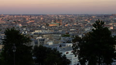 Wonderful Views of Paris, bathed in beautiful evening sun light. Stock Footage
