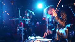Concert T-killah and people having fun in 16 Tons night club Stock Footage