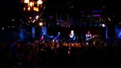 T-killah performs in 16 Tons night club in Moscow Stock Footage