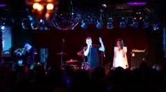 T-killah pop artist performs in 16 Tons night club Stock Footage