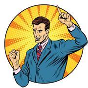 Male speaker politician businessman - stock illustration