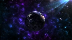 Planet earth in the universe Stock Footage
