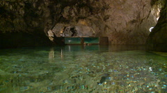 A lake in cavern. Stock Footage