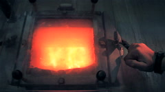 Human waste treatment center: furnaces. Stock Footage