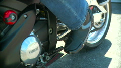 Motorcycle clutch lever. Stock Footage