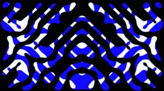 Psychedelic Vj Loops Seventies Animation Background Blue - stock footage