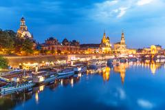 Evening scenery of the Old Town in Dresden, Germany Stock Photos