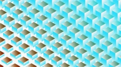 Square Wave HD Motion Blue Red Background Vj Loop - stock footage