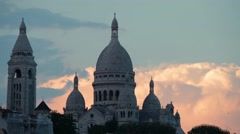 FRANCE, PARIS: Beautiful architecture and buildings, time-lapse, Montmartre Stock Footage