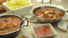 Indian and Chinese Food Stock Footage