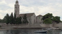 The Franciscan Monastery in Hvar, Croatia Stock Footage