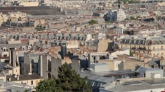 FRANCE, PARIS: View from Montmartre to buildings, details Stock Footage