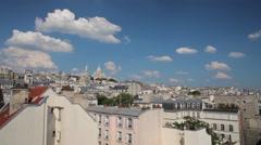 FRANCE, PARIS: Ancient architecture Montmartre, time-lapse - stock footage