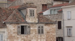 Old architecture in the town of Hvar, Croatia Stock Footage