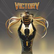 victory trophy - stock illustration