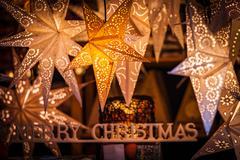 Star-shaped Christmas ornaments Stock Photos