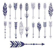 Quills And Arrows Graphic Collection - stock illustration