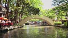 San Antonio River Walk in Texas Stock Footage