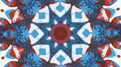 Acrylic abstract kaleidoscope Stock Footage