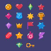 Flash Game Resources Set - stock illustration