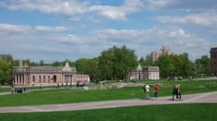 The Museum Tsaritsyno. Pavilion Bazhenov. The first and Second Cavalry corps. Stock Footage