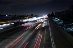 8K Freeway Traffic Time Lapse 10 WLA Stock Footage