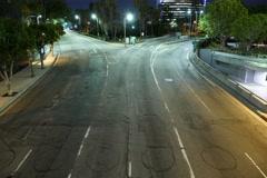 8K Night Cityscape Time Lapse 06 Stock Footage