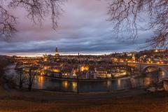 River Aare, City of Bern, Switzerland Stock Photos