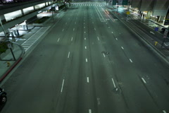 8K Night Cityscape Time Lapse 07 Stock Footage