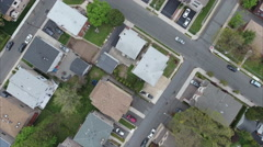 Overhead Aerial of Fort Lee & Englewood Cliffs Homes Stock Footage