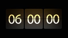 Chaotic moving clock. Clocks are set at 06:00 start a new countdown. Arkistovideo