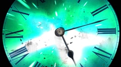 The hands move quickly. Futuristic clock, concept of time and space - stock footage