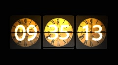 Chaotic moving clock. Infinitely fast moving clock Stock Footage