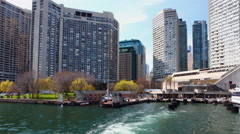 4K UltraHD Timelapse from ferry to Toronto Islands Stock Footage