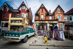 Shop on Kensington Avenue at Kensington Market, in Toronto, Ontario. Stock Photos