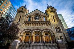 St Andrew's Presbyterian Church, in downtown Toronto, Ontario. Stock Photos