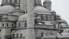 Wall biggest mosque - stock footage