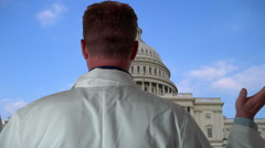 Frustrated Doctor In Washington DC Over Healthcare Stock Footage