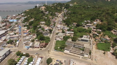A View of Significant Earthquake Damage in Bahia de Caraquez Stock Footage
