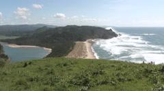 Scenic Pacific Coast Vista Stock Footage