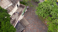 Aerial Santa Teresa neighbourhood hills Rio de Janeiro city Stock Footage