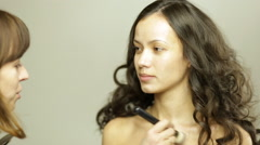 Makeup collarbone Stock Footage