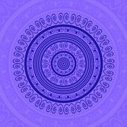 Blue Circle Lace Ornament Stock Illustration