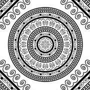 Round Ornamental Geometric Doily Pattern - stock illustration