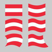 Austria flag. Set of flags o Austrian Republic in various forms. Developing A Stock Illustration