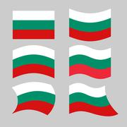 Bulgaria flag. Set of flags of Bulgarian republic in various forms. Developin - stock illustration